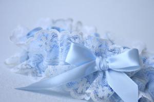 blue lace garter