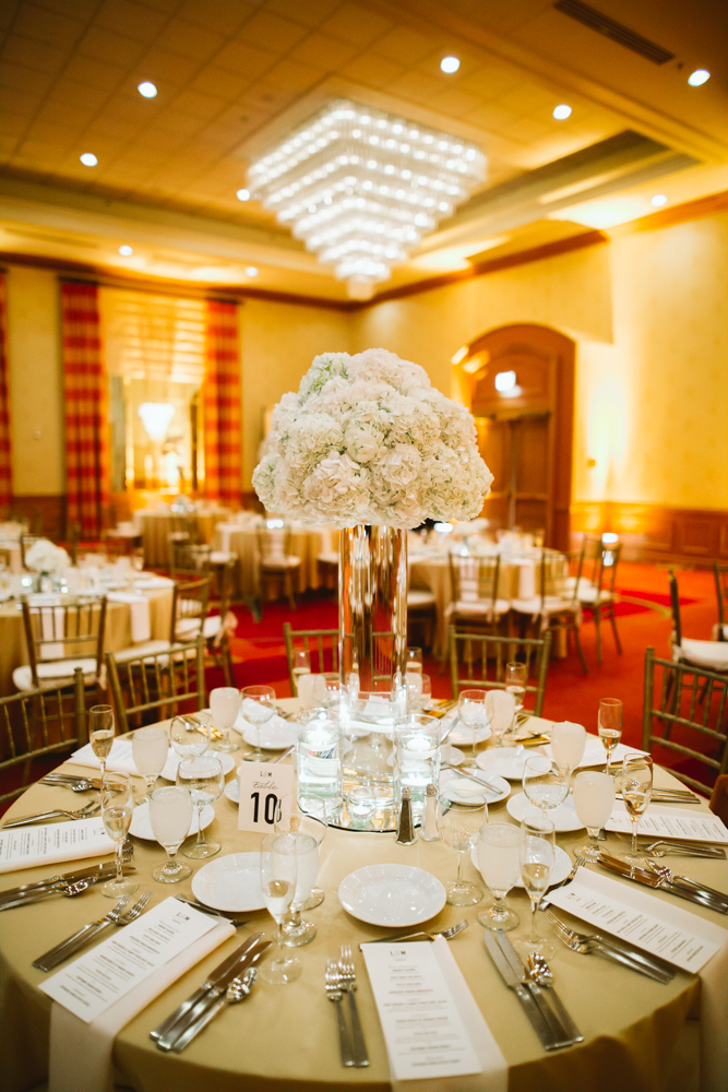 Gold And Ivory Wedding Centerpiece Str Events