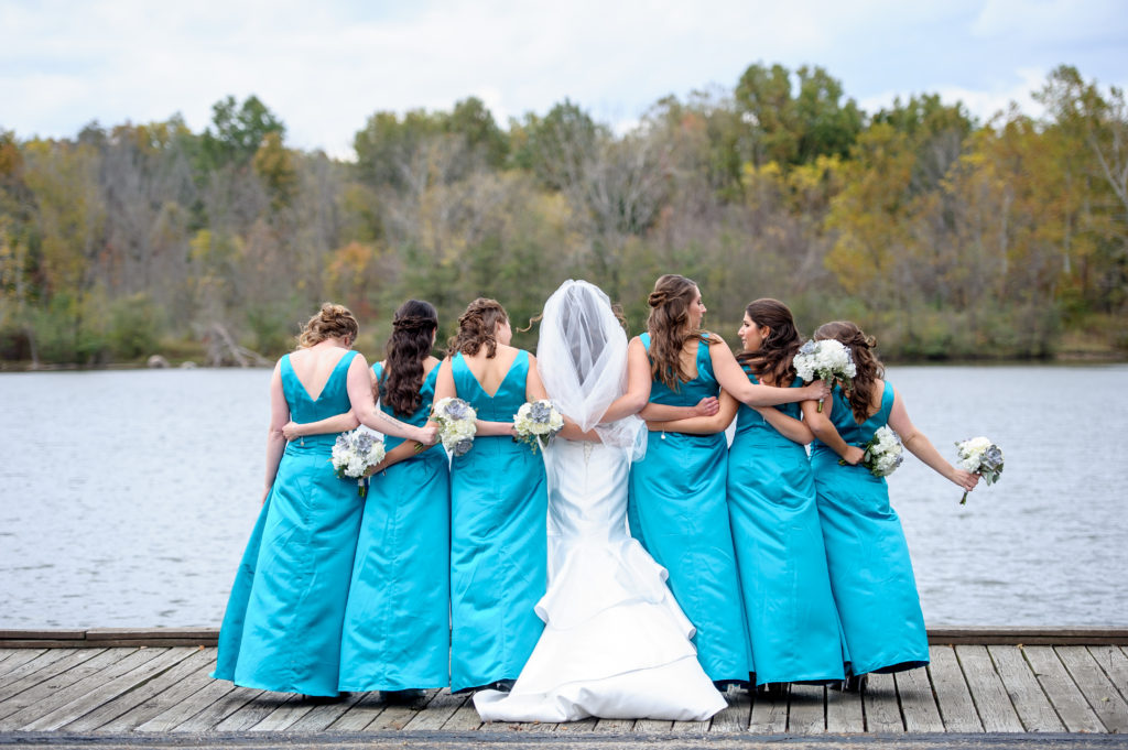 Hilton Easton Wedding / Teal Bridesmaids Dresses