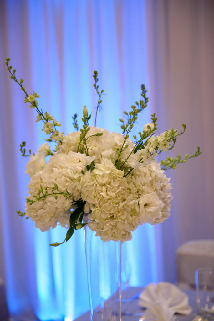 Hilton Easton Wedding / White Centerpiece