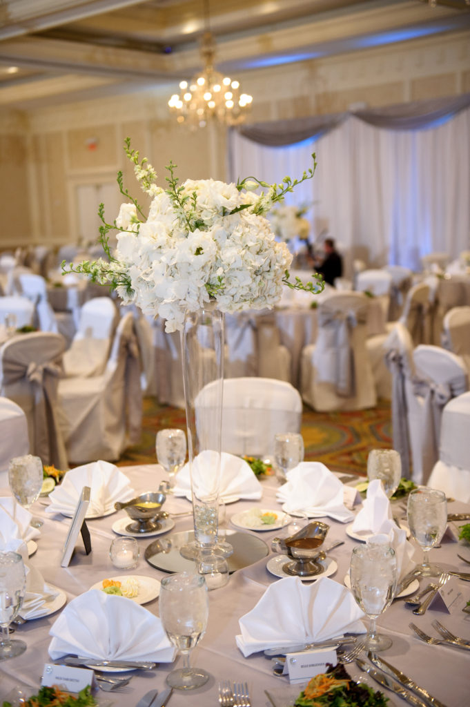 Hilton Easton Wedding / White Wedding Reception