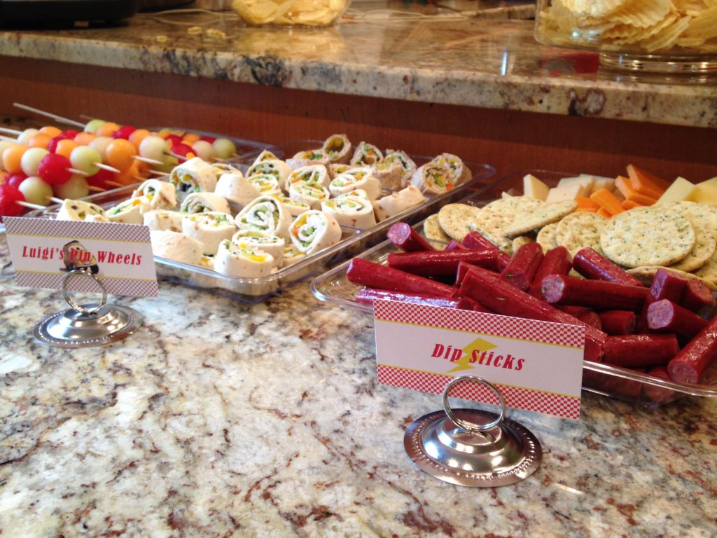 cars themed party food