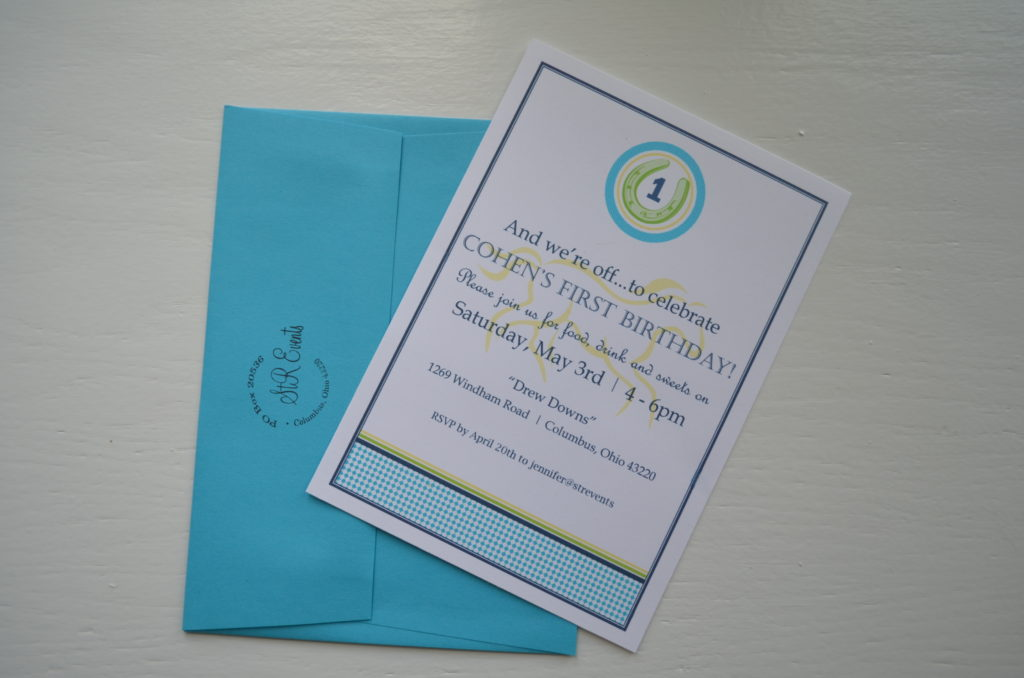 kentucky derby birthday invitation