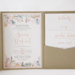 Wedding Invitation / Blush, Sage and Gold