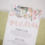 Wedding Menu / Blush and Sage