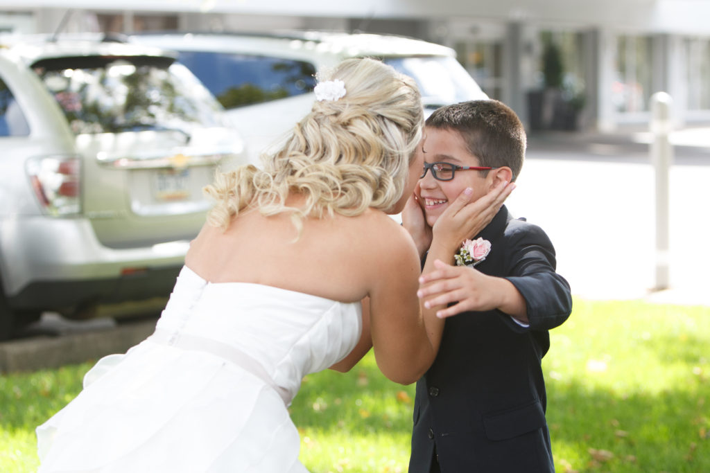 Bride and Son First Look