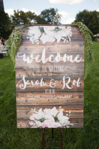 Wedding Welcome Sign / Rustic Wedding Details / Topiary Park Wedding