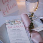 The Vault / Place Setting / Blush and Sage Wedding / Menu / Napin Roll / Place Cards