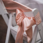 The Vault / Blush and Sage Wedding / Chair Sashes