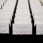 Gold and White Escort Cards
