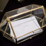 Gold Geometric Card Box