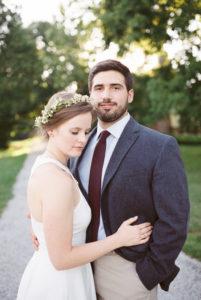 Bride and Groom, Greenery Headband