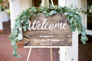Rustic, Calligraphy, Welcome Sign, Greenery