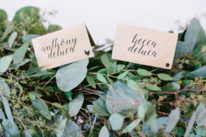 Garland Runner, Sweetheart Table, Modern Calligraphy Escort Cards