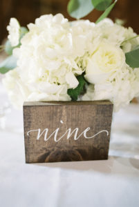 White Centerpieces, Rustic Table Number, Calligraphy Table Numbers