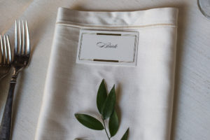Place Setting, Wedding, Kelton House, Greenery, Escort Card, Place Card, Ivory Silk