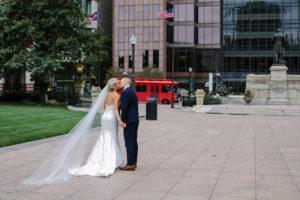 Bride and Groom, Columbus Trolley, Wedding