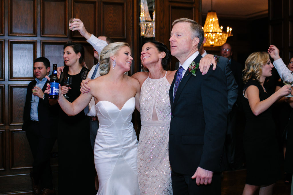 Bride, Mother of the Bride, Father of the Bride, Family Wedding, The Athletic Club of Columbus