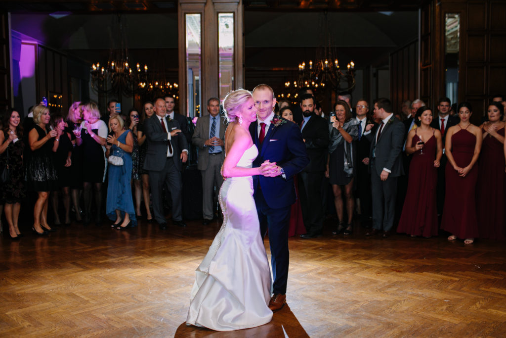 Bride and Groom First Dance, The Athletic Club of Columbus