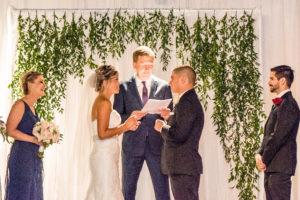 Wedding Ceremony, Greenery Backdrop